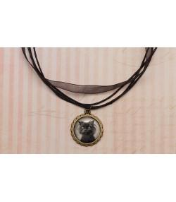 Vintage ogrlica sa mačkom