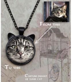 Ogrlica sa slikom vaše mačke