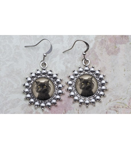 Photo Cat Earrings