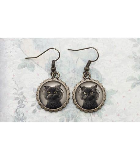 Photo Cat Earrings