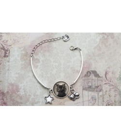 Photo silver plated bracelet