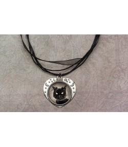 Ogrlica u obliku srca sa mačkom